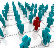 Large Network of People Stock Images