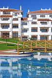 Large, new apartments on spanish urbanisation Royalty Free Stock Image