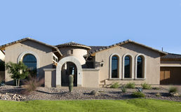 Large new Home exterior Stock Photo