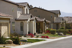 Large New Houses in New Development Royalty Free Stock Image