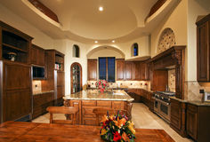 Large New Mansion Home Kitchen