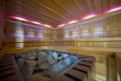 Large new sauna Stock Images