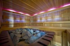 Large new sauna Stock Images
