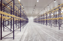 Large newly built warehouse Stock Photography