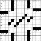 Large newspaper crossword puzzle grid numbers Stock Photos