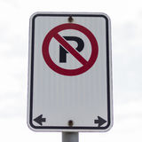 A large no parking sign Royalty Free Stock Photos