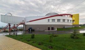 Large Novosibirsk Planetarium is the largest astrophysical center beyond the Urals. Novosibirsk, Russia - August 10, 2013: Large Novosibirsk Planetarium is the stock image