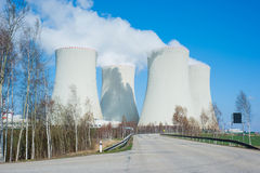 Large nuclear power plant Stock Image