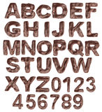 A large number of 3d Chocolate alphabet spelling a Royalty Free Stock Image