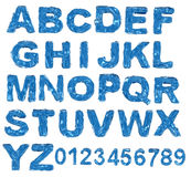A large number of 3d Glass alphabet spelling art a Royalty Free Stock Photography