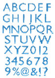 A large number of 3d Glass alphabet spelling art a Royalty Free Stock Image