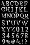 A large number of 3d Metal alphabet spelling art a Royalty Free Stock Photography
