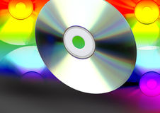 Large number of CD's Royalty Free Stock Image