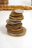 Large number of coins Royalty Free Stock Photo
