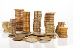 Large number of coins Royalty Free Stock Image