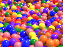 Large number of colorful spheres Royalty Free Stock Photography