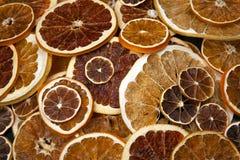 Large number of dried lemon slices. vitamin fruit food