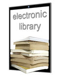 A large number of e-books Stock Photography