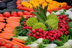 Large number of fresh vegetables Royalty Free Stock Photography