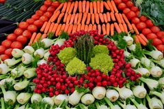 Large number of fresh vegetables Stock Photos