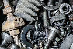 Large number of metal parts Stock Images