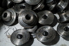 Large number of metal parts Stock Image