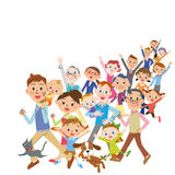 Large number of people vector illustration