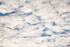 Large number of small clouds Royalty Free Stock Photos