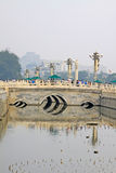 A large number of tourists on Jinshui bridge Royalty Free Stock Photography