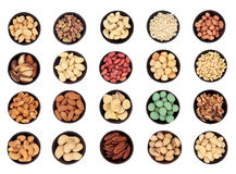 Large Nut Selection Stock Photography