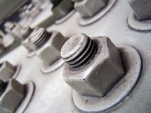 Large Nuts and Bolts Stock Images