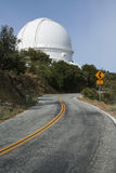 Large Observatory and Road. Modern telescope dome at Lick Observatory on the summit of Mount Hamilton, in the Diablo Range just east of San Jose, California, USA Royalty Free Stock Photography