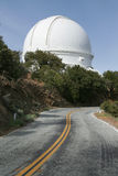 Large Observatory Telescope Dome. Modern telescope dome at Lick Observatory on the summit of Mount Hamilton, in the Diablo Range just east of San Jose Stock Photos