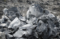 Large Obsidian Chunks Stock Photo