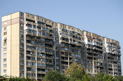 Large obsolete residential block Royalty Free Stock Images