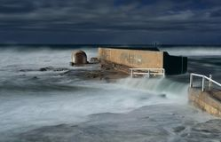Newcastle Ocean Baths underwater in large swell Royalty Free Stock Photography