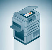 Large Office Laser Printer. Is a part of the Isometric 3D Computer Hardware Icons Set Royalty Free Illustration