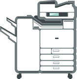 Large office printer copier. File eps Royalty Free Illustration