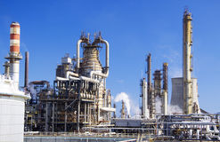 Large oil refinery in Italy Royalty Free Stock Image