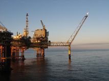 Large oil rig Stock Images