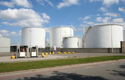 Large Oil Silo Royalty Free Stock Image