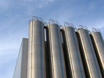 Large oil storage tank. Large metal oil storage tank Stock Photo