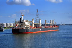 Large oil tanker nearing port Royalty Free Stock Photo