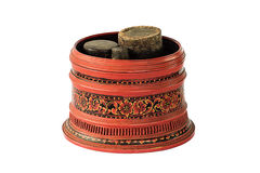 Large old antique lacquer wares Royalty Free Stock Photo