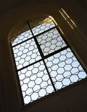 Large church window. Large and old church window royalty free stock photography