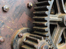 Large old gears. Weathered large old gears royalty free stock image