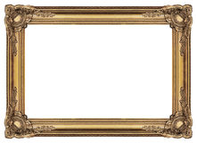 Large Old Gold Frame 003. Antique gold frame covered with a patina. Large size. Comfortable proportions Stock Images