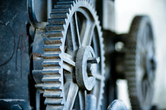 Large old industrial gears Stock Photos
