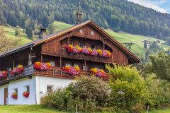 Large, old mountain farm in South Tyrol Royalty Free Stock Photography