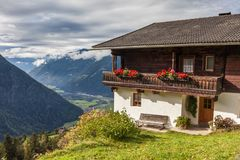 Large, old mountain farm in South Tyrol Stock Image